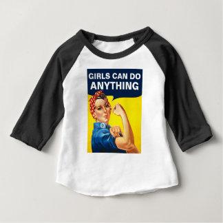 Camiseta Para Bebê As meninas podem fazer qualquer coisa