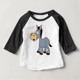Camiseta Para Bebê asno cinzento