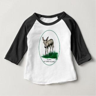 Camiseta Para Bebê Asno do bebê