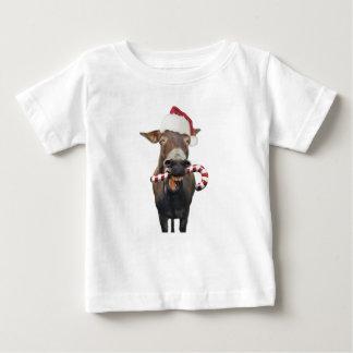 Camiseta Para Bebê Asno do Natal - asno do papai noel - papai noel do
