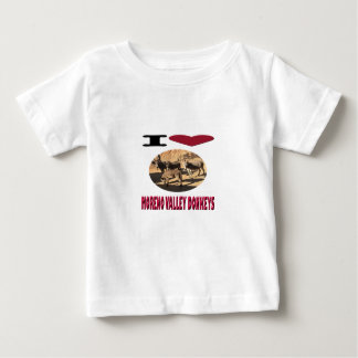 Camiseta Para Bebê Asnos de Moreno Valley do amor