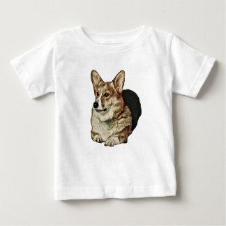 Camiseta Para Bebê Assento Tricolor do Corgi de Galês