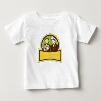 Camiseta Para Bebê Assistente do gás do vintage retro