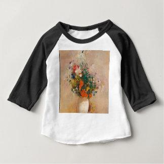 Camiseta Para Bebê Assortion das flores no vaso