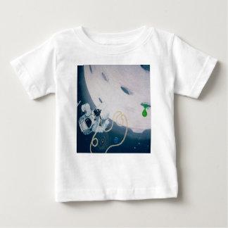 Camiseta Para Bebê Astronauta e lua