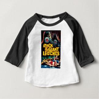 Camiseta Para Bebê Ataque dos Leeches gigantes