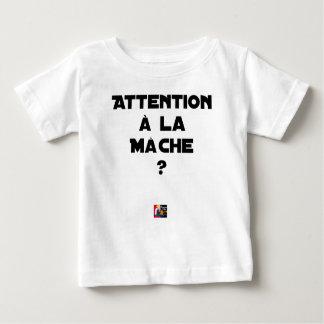 Camiseta Para Bebê ATENÇÃO À ERVA- R? - Jogos de palavras