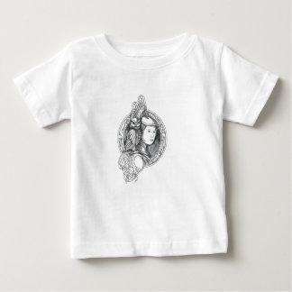 Camiseta Para Bebê Athena com a coruja no Cir do circuito eletrônico