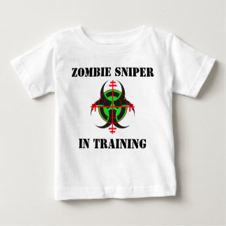 Camiseta Para Bebê ATIRADOR FURTIVO do ZOMBI NO T-SHIRT INFANTIL do