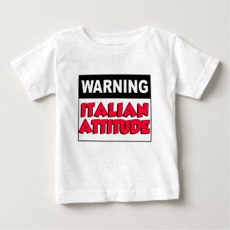 Camiseta Para Bebê Atitude italiana de advertência