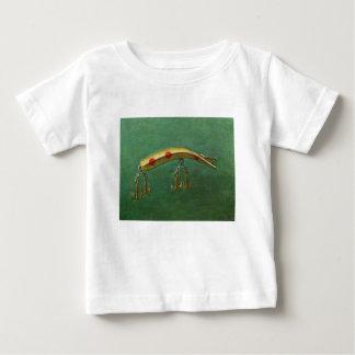 Camiseta Para Bebê Atração vermelha da pesca do ponto