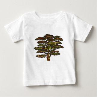 Camiseta Para Bebê atributos do amor