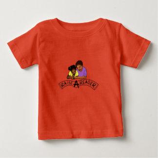 Camiseta Para Bebê Aumente um t-shirt do bebê do leitor