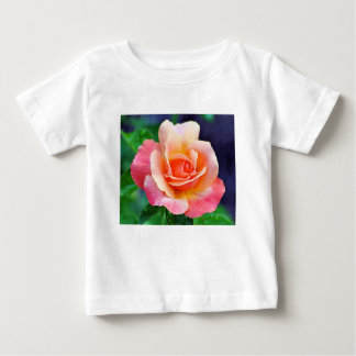 Camiseta Para Bebê Aumentou na flor completa