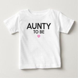 Camiseta Para Bebê Aunty Ser Bonito Imprimir para chás de fraldas