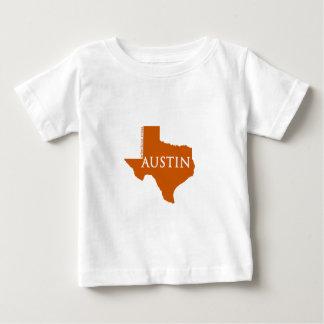 Camiseta Para Bebê Austin alaranjado queimado Texas