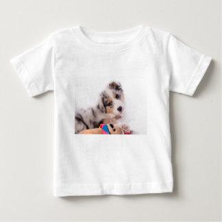 Camiseta Para Bebê Australian shepherd puppy