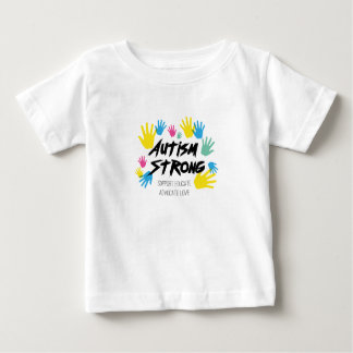 Camiseta Para Bebê Autismo da consciência do autismo forte