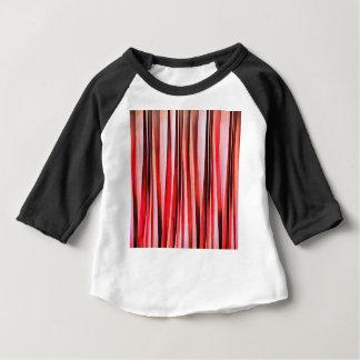 Camiseta Para Bebê Aventura vermelha teste padrão abstrato listrado