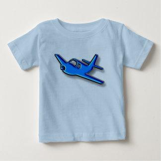 Camiseta Para Bebê avião azul