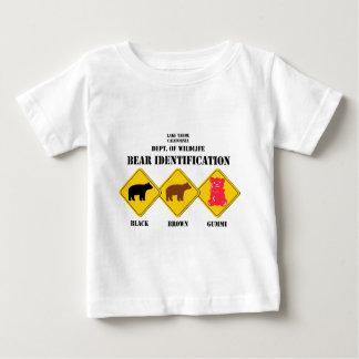 Camiseta Para Bebê Aviso do urso de Gummi - animais selvagens de