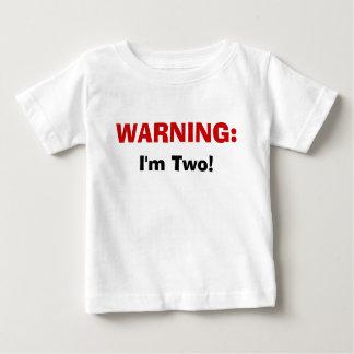 Camiseta Para Bebê AVISO: , Eu sou dois!