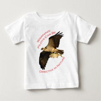 Camiseta Para Bebê Aviso: Os pilotos podem ser