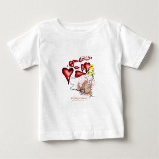 Camiseta Para Bebê azarado no amor, fernandes tony