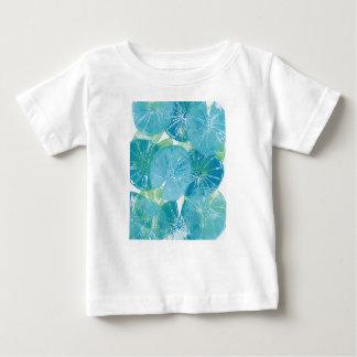 Camiseta Para Bebê Azuis da almofada de lírio