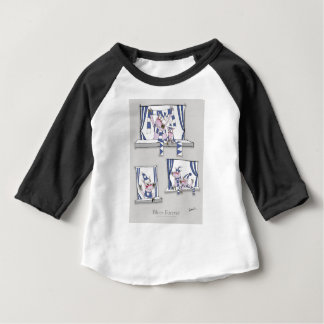 Camiseta Para Bebê azuis leitães para sempre