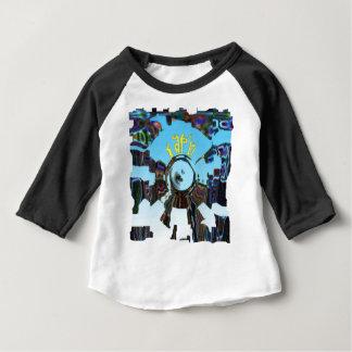 Camiseta Para Bebê Azul abstrato