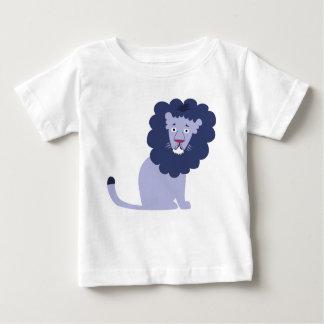 Camiseta Para Bebê Azul azul do leão
