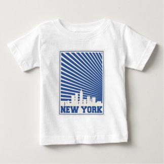 Camiseta Para Bebê Azul da Nova Iorque