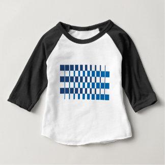 Camiseta Para Bebê Azul do inclinação