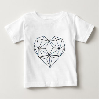 Camiseta Para Bebê azul-galaky-Geo-coração