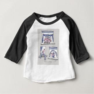 Camiseta Para Bebê azul leitão do forever