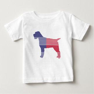 Camiseta Para Bebê Azul vermelho do cão patriótico apontar Griffon