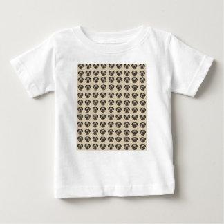 Camiseta Para Bebê azulejo BG do pug