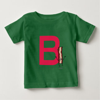 Camiseta Para Bebê B é para a letra de salto feliz do ABC da tira do