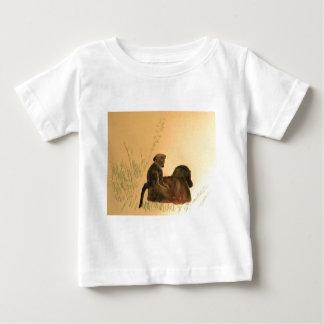 Camiseta Para Bebê Babuínos da mãe & do bebê - primatas dos macacos