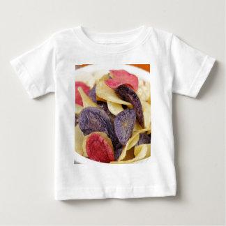 Camiseta Para Bebê Bacia de Fim-Acima misturado das microplaquetas de