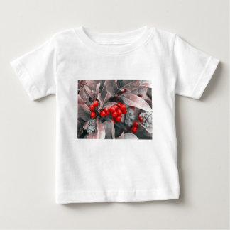 Camiseta Para Bebê Bagas do Natal