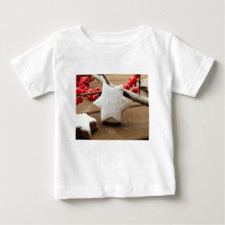 Camiseta Para Bebê Bagas do Natal e zimtstern