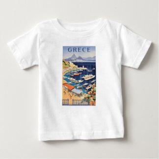 Camiseta Para Bebê Baía 1955 de Atenas da piscina do poster de