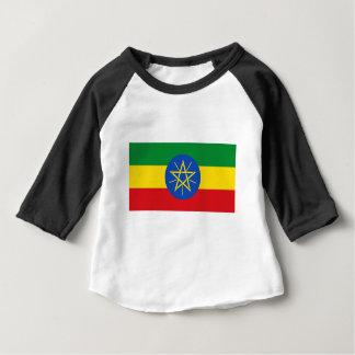 Camiseta Para Bebê Baixo custo! Bandeira de Etiópia