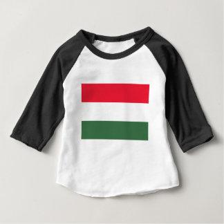 Camiseta Para Bebê Baixo custo! Bandeira de Hungria