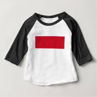 Camiseta Para Bebê Baixo custo! Bandeira de Indonésia