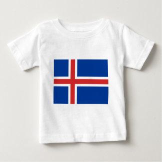 Camiseta Para Bebê Baixo custo! Bandeira de Islândia