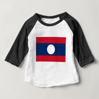 Camiseta Para Bebê Baixo custo! Bandeira de Laos
