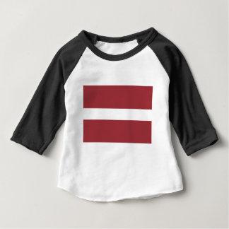 Camiseta Para Bebê Baixo custo! Bandeira de Latvia
